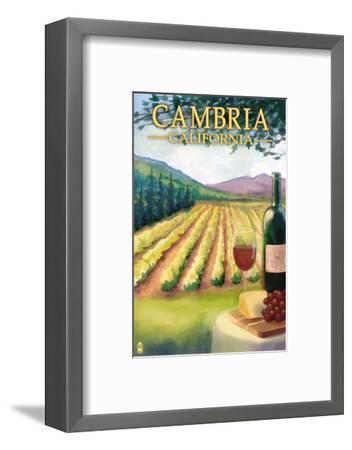 Cambria, California - Wine Country-Lantern Press-Framed Art Print