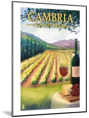 Cambria, California - Wine Country-Lantern Press-Mounted Art Print