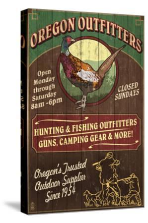 Oregon Outfitters - Pheasant-Lantern Press-Stretched Canvas Print
