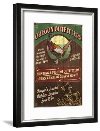 Oregon Outfitters - Pheasant-Lantern Press-Framed Art Print