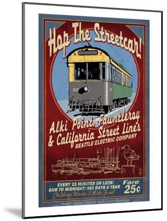 Seattle, Washington - West Seattle Streetcar-Lantern Press-Mounted Art Print