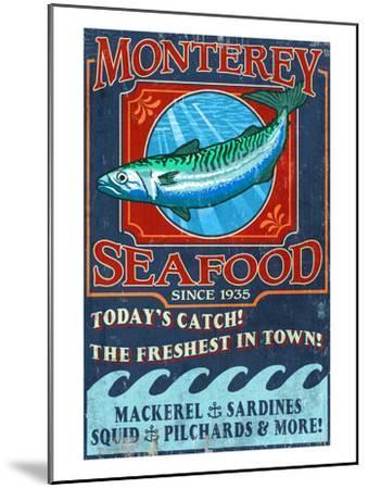 Monterey, California - Seafood-Lantern Press-Mounted Art Print