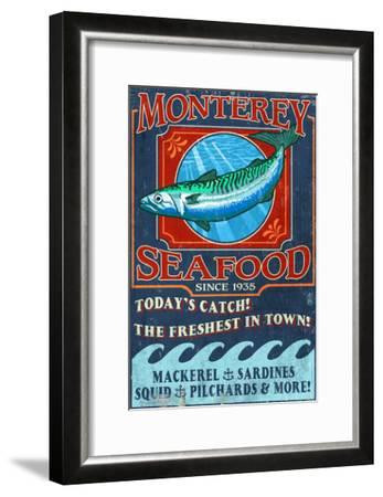 Monterey, California - Seafood-Lantern Press-Framed Art Print