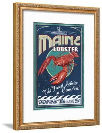 Camden, Maine - Lobster-Lantern Press-Framed Art Print
