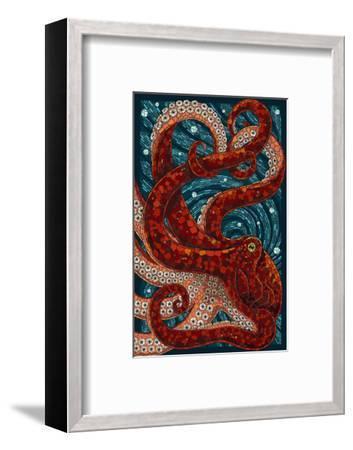 Octopus - Paper Mosaic-Lantern Press-Framed Art Print