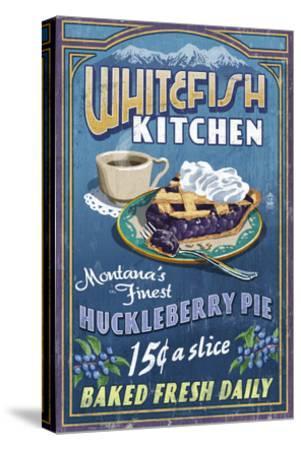 Whitefish, Montana - Huckleberry-Lantern Press-Stretched Canvas Print