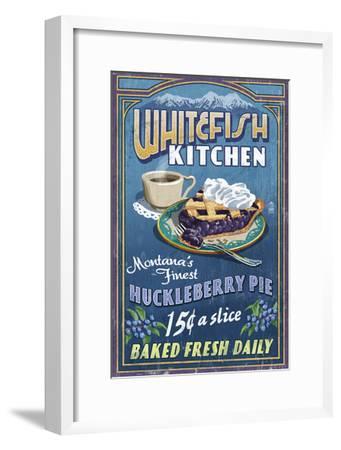 Whitefish, Montana - Huckleberry-Lantern Press-Framed Art Print
