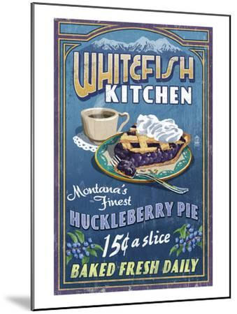 Whitefish, Montana - Huckleberry-Lantern Press-Mounted Art Print