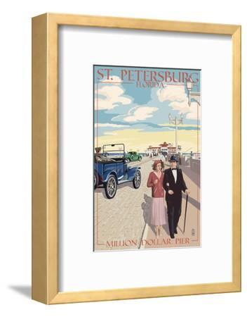 St. Petersburg, Florida - Million Dollar Pier-Lantern Press-Framed Art Print