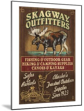 Skagway, Alaska - Moose Outfitters-Lantern Press-Mounted Art Print