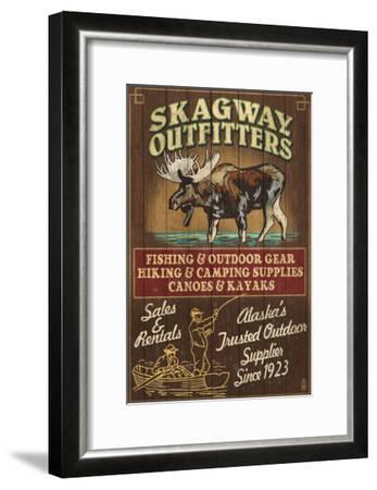 Skagway, Alaska - Moose Outfitters-Lantern Press-Framed Art Print