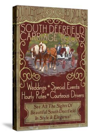South Deerfield, Massachusetts - Carriage Tours-Lantern Press-Stretched Canvas Print