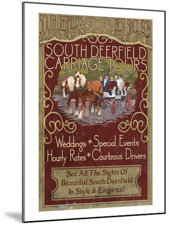 South Deerfield, Massachusetts - Carriage Tours-Lantern Press-Mounted Art Print