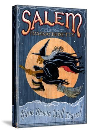 Salem, Massachusetts - Witch-Lantern Press-Stretched Canvas Print