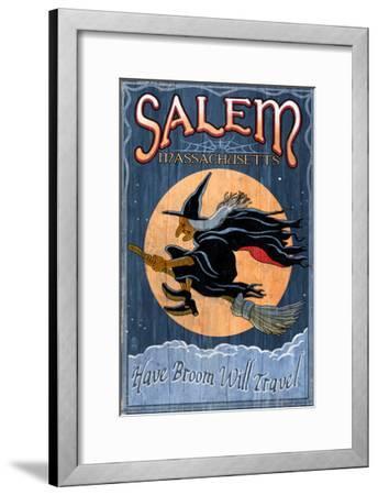Salem, Massachusetts - Witch-Lantern Press-Framed Art Print