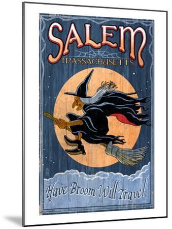 Salem, Massachusetts - Witch-Lantern Press-Mounted Art Print