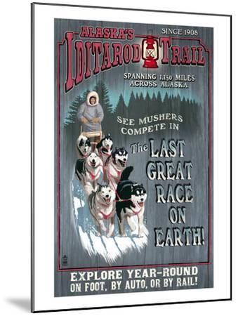 Iditarod Trail - Alaska-Lantern Press-Mounted Art Print