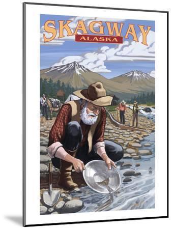 Gold Miners - Skagway, Alaska-Lantern Press-Mounted Art Print