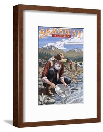 Gold Miners - Skagway, Alaska-Lantern Press-Framed Art Print
