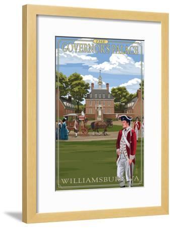 Williamsburg, Virginia - Governor's Palace in Spring-Lantern Press-Framed Art Print