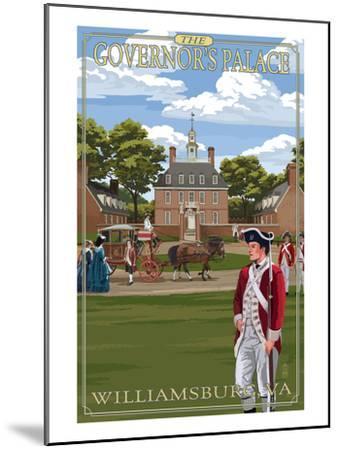 Williamsburg, Virginia - Governor's Palace in Spring-Lantern Press-Mounted Art Print
