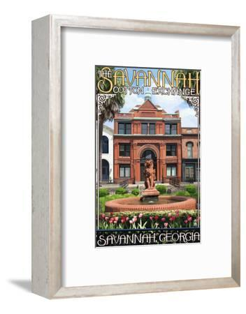 Savannah, Georgia - The Cotton Exchange-Lantern Press-Framed Art Print