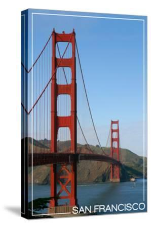 San Francisco, California - Golden Gate Bridge Day-Lantern Press-Stretched Canvas Print