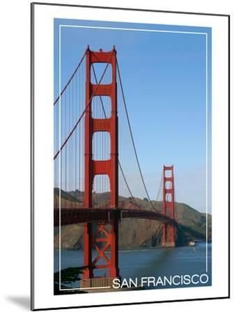 San Francisco, California - Golden Gate Bridge Day-Lantern Press-Mounted Art Print
