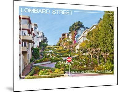 San Francisco, California - Lombard Street-Lantern Press-Mounted Art Print