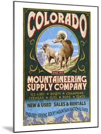 Mountaineering Supply - Rocky Mountain National Park-Lantern Press-Mounted Art Print