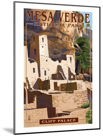 Mesa Verde National Park, Colorado - Cliff Palace-Lantern Press-Mounted Art Print