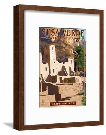 Mesa Verde National Park, Colorado - Cliff Palace-Lantern Press-Framed Art Print
