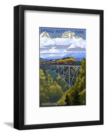 Denali National Park, Alaska - Hurricane Gulch-Lantern Press-Framed Art Print