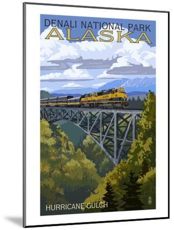 Denali National Park, Alaska - Hurricane Gulch-Lantern Press-Mounted Art Print
