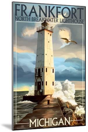 Frankfort Lighthouse, Michigan-Lantern Press-Mounted Art Print