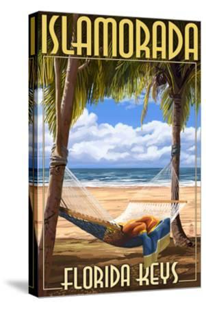 Islamorada, Florida Keys - Hammock Scene-Lantern Press-Stretched Canvas Print