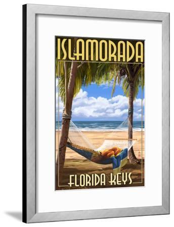 Islamorada, Florida Keys - Hammock Scene-Lantern Press-Framed Art Print