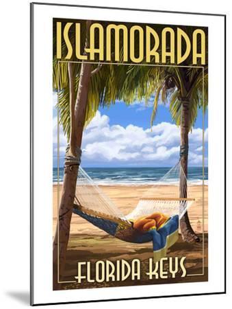 Islamorada, Florida Keys - Hammock Scene-Lantern Press-Mounted Art Print