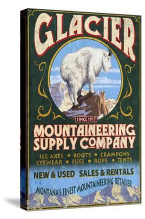 Glacier National Park, Montana - Mountain Goat-Lantern Press-Stretched Canvas Print