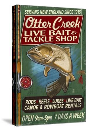 Otter Creek, Vermont - Tackle Shop-Lantern Press-Stretched Canvas Print