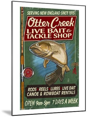 Otter Creek, Vermont - Tackle Shop-Lantern Press-Mounted Art Print