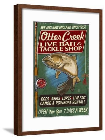 Otter Creek, Vermont - Tackle Shop-Lantern Press-Framed Art Print