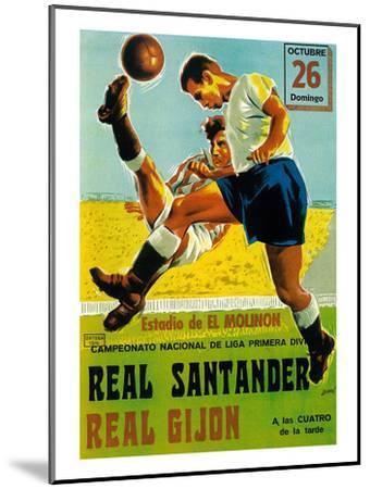 Futbol Promotion-Lantern Press-Mounted Art Print