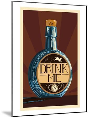 Drink Me Bottle-Lantern Press-Mounted Art Print