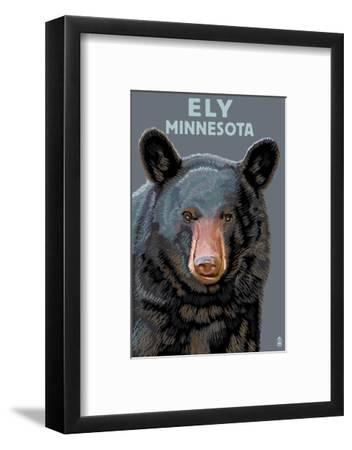 Ely, Minnesota - Bear Up Close-Lantern Press-Framed Art Print