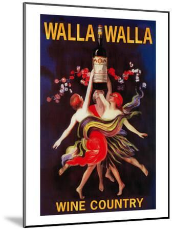 Women Dancing with Wine - Walla Walla, Washington-Lantern Press-Mounted Art Print