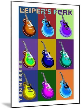 Leiper's Fork, Tennessee - Guitar Pop Art-Lantern Press-Mounted Art Print