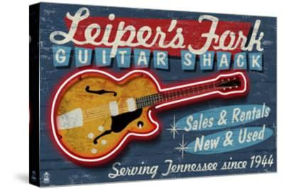 Leiper's Fork, Tennessee - Guitar Shack-Lantern Press-Stretched Canvas Print