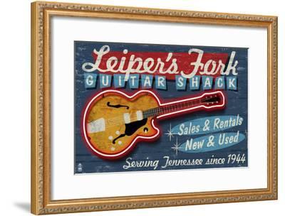 Leiper's Fork, Tennessee - Guitar Shack-Lantern Press-Framed Art Print