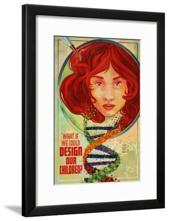 What If We Could Design Our Children?-Lantern Press-Framed Art Print